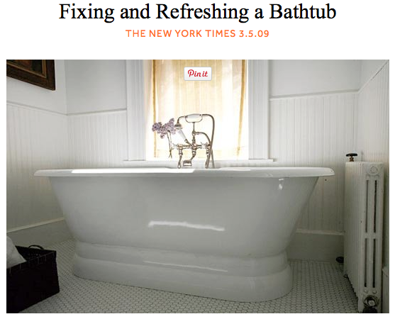 custom tub and tile resurfacing apartment therapy and new york times